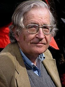"Avram Noam Chomsky born December 7, 1928) is an American linguist, philosopher, cognitive scientist, historian, logician, social critic, and political activist. Sometimes described as ""the father of modern linguistics"", Chomsky is also a major figure in analytic philosophy, and one of the founders of the field of cognitive science. He has spent more than half a century at the Massachusetts Institute of Technology (MIT), where he is Institute Professor Emeritus, and is the author of over 100 books on topics such as linguistics, war, politics, and mass media. Ideologically, he aligns with anarcho-syndicalism and libertarian socialism."
