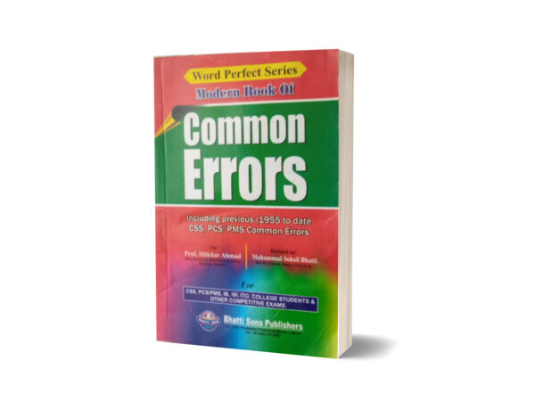 Modern Book Of Common Errors For CSS.PMS-PCS By Muhammad Sohail Bhatti
